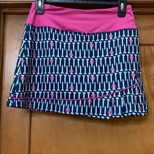 Birdies and Bows Preppy Golf Skort Pink Blue XS